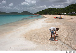 Sandy beaches at risk due to sea level rise in Antigua and Barbuda